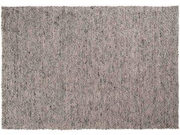 Yash: 120cm x 170cm Flachgewebeteppich, Wolle elfenbein grau, geeignet für Büro oder Esstisch
