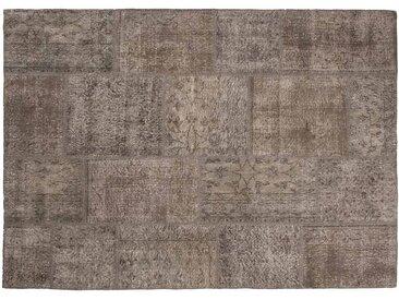 Elif: 120cm x 170cm Natürliche Braun Oriental Patchwork Teppich Klein oder Groß Größe Custom-Made in Turkey