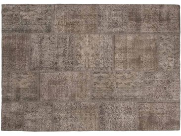 Elif: Custom Size Natürliche Braun Oriental Patchwork Teppich Klein oder Groß Größe Custom-Made in Turkey