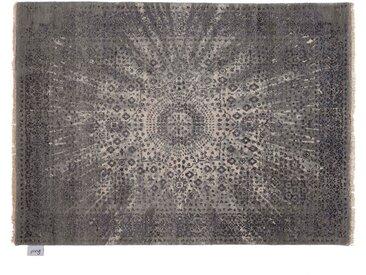 Jahid - handgeknüpft:  Dunkelgraue Bambus Seide Teppiche, Fairer Handel
