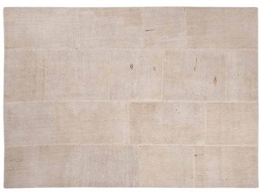 Irmak: Custom Size Patchwork Teppiche Naturfasern Weiß Beige Farbe Schönes Wohnzimmer Benutzerdefinierte Formate