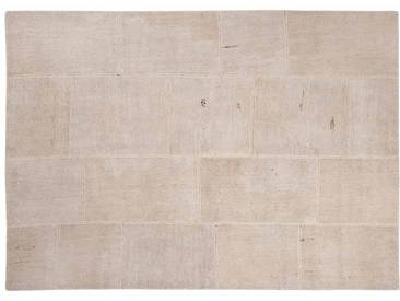 Irmak: 170cm x 240cm Patchwork Teppiche Naturfasern Weiß Beige Farbe Schönes Wohnzimmer Benutzerdefinierte Formate