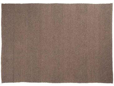 Paras: 170cm x 240cm naturbrauner Flachgewebeteppich, graue Designerteppiche, groß