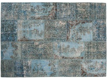 Belinay: 15cm x 20cm Bestseller Turquoise Patchwork Teppiche kaufen Online Handgefertigt Anatolian Räumungs