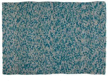 Mina:  Grun, Hellgrau, unglaublich weicher Teppich, handgefertigt