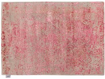 Akiludin - handgetuftet:  Schone handgetuftete orientalische Teppiche, glanzende rosa Seide