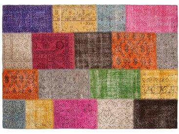 Yagmur: 170cm x 240cm Multi-Colour Patchwork Teppich Overdyed Handgefertigt in der Türkei Online Kaufen in allen Größen