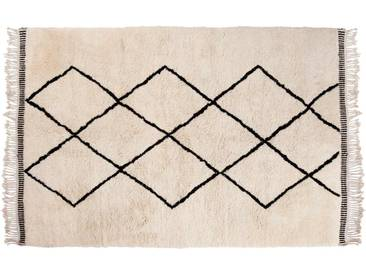 Aicha: 100cm x 140cm 25% Sale: Beni Ourain Teppiche, Berber Wollteppiche mit Diamant-Muster, Online Kaufen