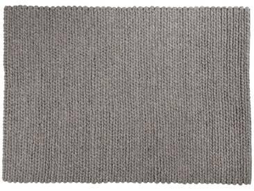 Tahir: 150cm x 200cm geflochtenen grauen Teppich, Wolle, Hygge, indische Wollteppiche, schönes Entwurf, online kaufen