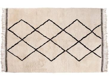 Aicha: 150cm x 200cm 25% Sale: Beni Ourain Teppiche, Berber Wollteppiche mit Diamant-Muster, Online Kaufen