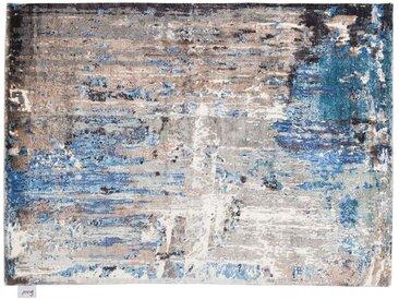 Nainmudin - handgeknüpft:  Moderne persische Teppiche, handgeknupft, blau weib