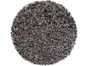Vihaan - rund: 20cm Schwarz Grau Wollteppich Rund Handgefertigt Fair Trade Bestelloptionen, Christmas Sale