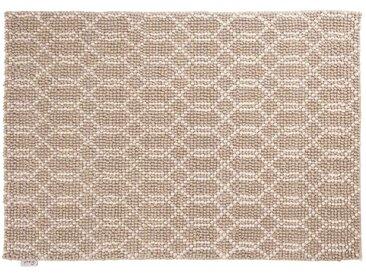 Jai: 150cm x 200cm naturweißer Webteppich, silbergrau, modernes Design, starke handgefertigte Teppiche