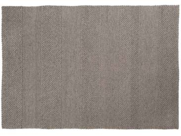 Mohit: Custom Size grauer Teppich, Esszimmer, Schafwollteppich, großer Teppich