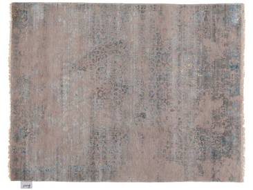 Gouri - handgeknüpft:  Schoner grauer blauer Teppich, Wohnzimmer, verringerter Preis