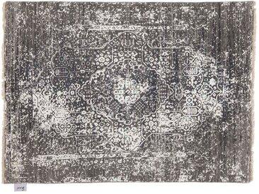 Devendra - handgeknüpft:  Dunkelgraue persische Teppiche, weib, handgeknupft