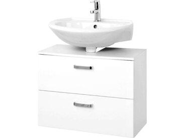 Waschbeckenunterschrank PADUA-03 Hochglanz weiß, 60cm