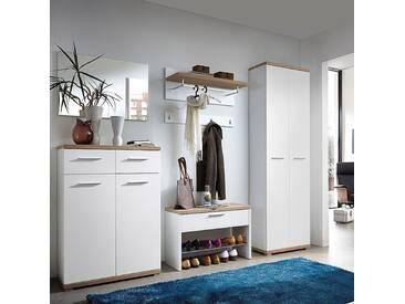 Garderoben Komplettset MONTREAL-01 weiß, Sonoma Eiche, B x H x T: ca. 249 x 200 x 37 cm