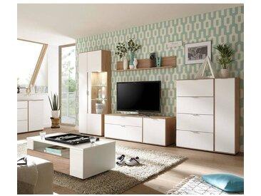 Wohnmöbel-Set im Retro-Style SEATTLE-61 in weiß matt und San Remo Nb. BxHxT: 476x203x60cm