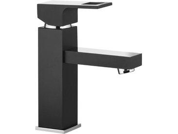 Design Waschtischarmatur matt schwarz Chrom Mischbatterie Einloch Einhandmischer ANEMON-30