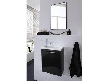 Handwaschplatz Set CALGARY-02 in anthrazit, inkl. Spiegel, B x H x T: ca. 40 x 190 x 22 cm