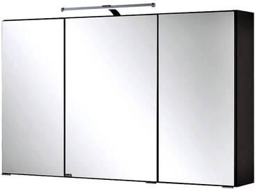 Spiegelschrank PADUA-03 / FLORIDO-03 graphitgrau, LED-Aufbauleuchte, 100cm