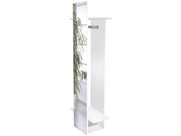 Garderobenpaneel mit Spiegel NIZZA-04 weiß glanz Spiegel, BxHxT: ca. 34,1/60x175,1x30,6cm
