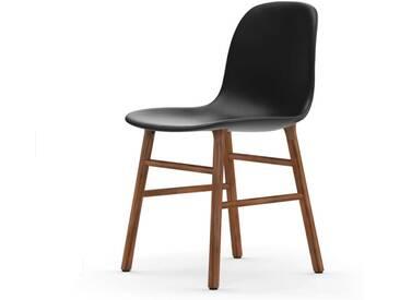 Normann Form Walnut Stuhl Leder-gepolstert tango