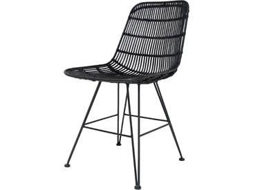 HK living Rattan Dining Chair Esszimmerstuhl