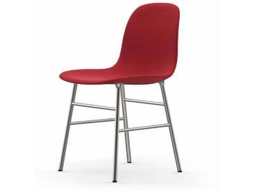 Normann Form Chrome Stuhl Textil-gepolstert steelcut trio