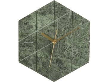 Karlsson Marble Hexagon Wanduhr