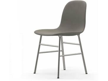 Normann Form Chrome Stuhl Textil-gepolstert fame