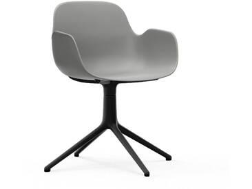 Normann Copenhagen Form Armchair Black Swivel Bürostuhl