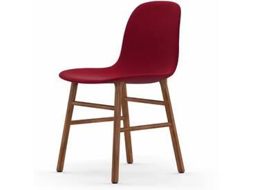 Normann Form Walnut Stuhl Textil-gepolstert fame