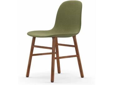 Normann Form Walnut Stuhl Textil-gepolstert breeze fusion