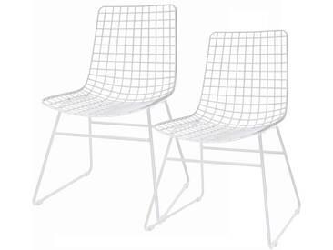 HK living Wire Dining Chair Esszimmerstuhl - 2 Stühle
