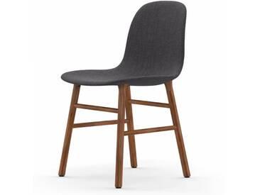Normann Form Walnut Stuhl Textil-gepolstert remix