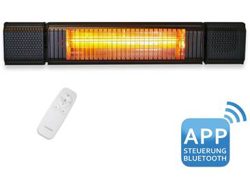VASNER Appino BEATZZ Black - Bluetooth Infrarot-Heizstrahler, LED Backlight Licht Musik-Lautsprecher