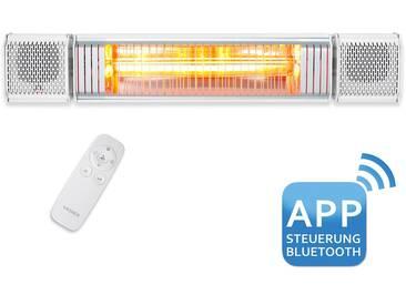VASNER Appino BEATZZ White - Bluetooth Infrarot-Heizstrahler, LED Backlight Licht, Musik-Lautspreche