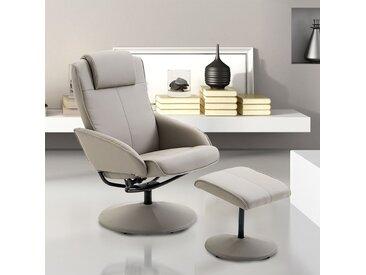 HOMCOM® Relax Fernsehsessel mit Fußstütze | Armsessel | 78 x 71 x 101 cm | Grau