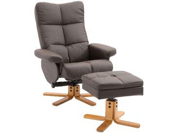 HOMCOM® Relax-Fernsehsessel mit Hocker | Liegefunktion | 80 x 86 x 99 cm | Schwarz