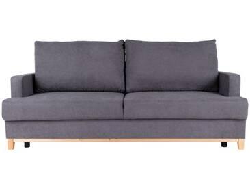 Sofa Sorinto, aufklappbar, 3-Sitzer, grau