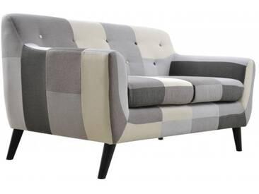 2-Sitzer Sofa Patchwork grey mix