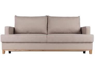 Sofa Sorinto, aufklappbar, 3-Sitzer, beige