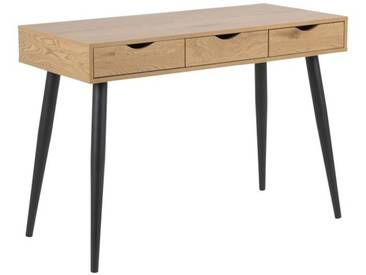 Schreibtisch mit Schubladen Sarmo, schwarz/Eiche