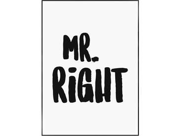 Wanddekoration Mr. Right, 70.4x50.4x2.2 cm Gigi Nouelle