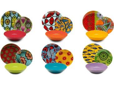 Teller-Set Afrika, 18-teilig Color Addicted