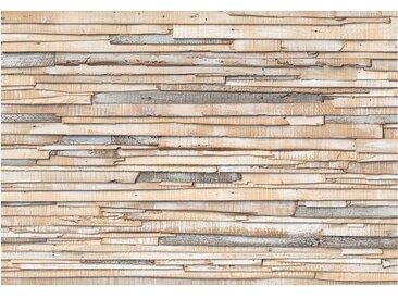 Fototapete Whitewashed Wood, B368 x H254 cm, braun Komar
