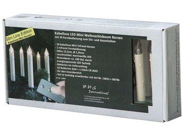LED-Christbaumkerzen-Set, 10-tlg Slim Line FHS