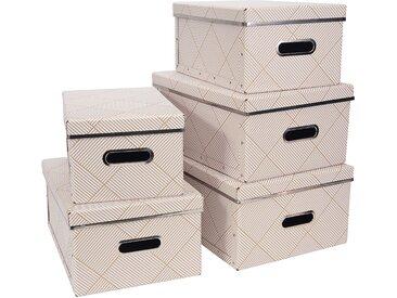 Aufbewahrungsbox, 5er Set, B28,5 x L39,5 x H17 cm Bigso BOX